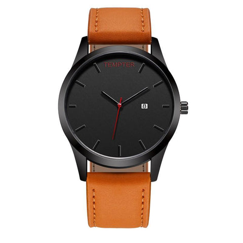 Image of Matte & Brown Class Watch