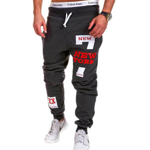 New York Print Mens Baggy Sweatpants