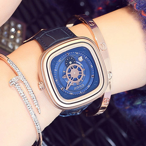 Fashion Rose Gold Bracelet Watch