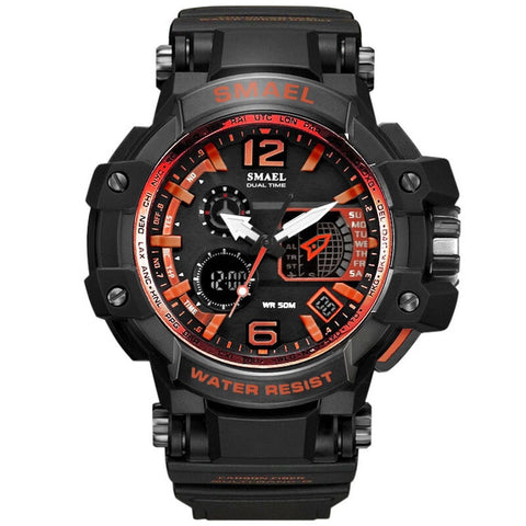 Mens Casual Waterproof LED Sports Watch