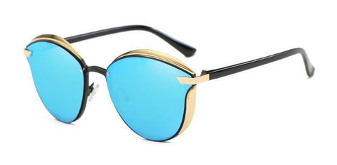Cyan Metallic Sunglasses