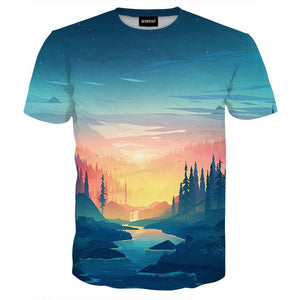 Cyan Forest Tee