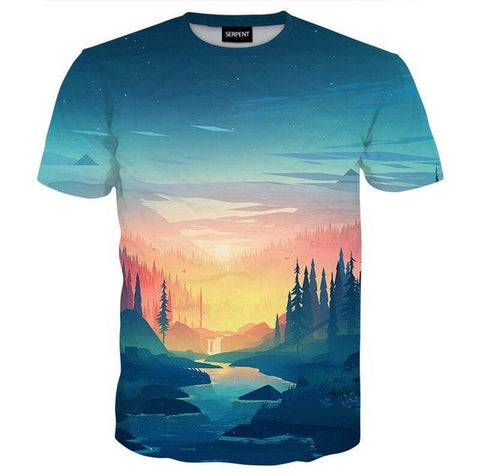 Image of Cyan Forest Tee