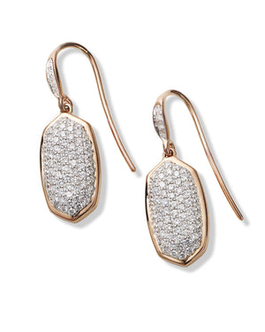Made with Swarovski Crystal 18K Rose Gold Pave Drop Earrings