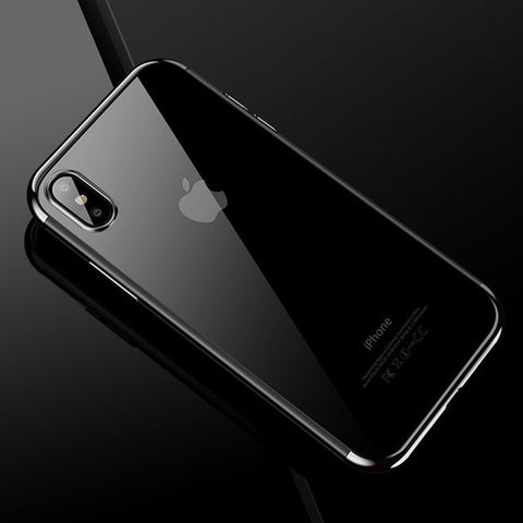 Luxury Silicone Clear Case for iPhone