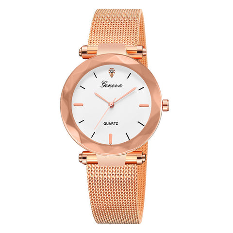 Luxury Rose Gold Womens Watch
