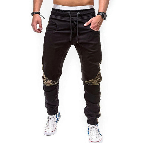 Mens Drawstring Patchwork Streetwear Sweatpants