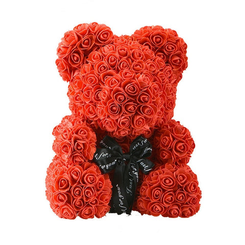 Valentines Day Rose Bear Decoration