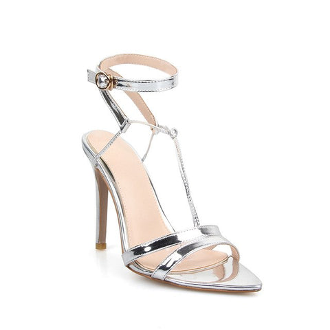 Image of New Rome Flock Cross Strap Heels