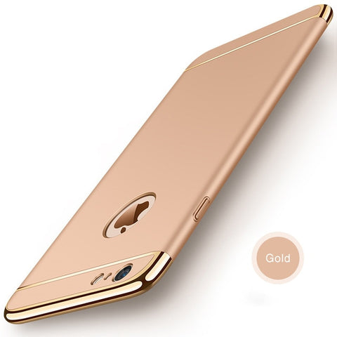 Image of Luxury Golden Finish 3 Piece Case For iPhone