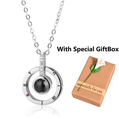 "Image of New 100 Languages ""I Love You"" Projection Necklace"