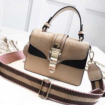 Luxury Fashion Wide Shoulder Strap Bag
