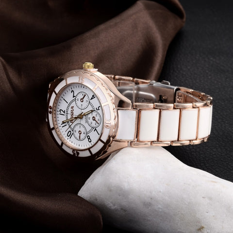 Hot  Luxury Rose Gold Womens Wrist Watch