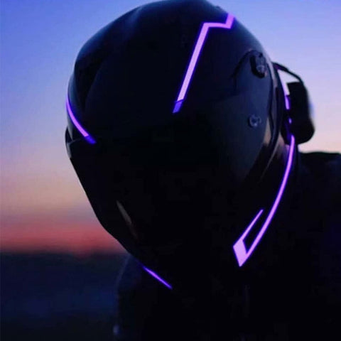 Image of Night Safety Motorcycle Helmet LED Stripe