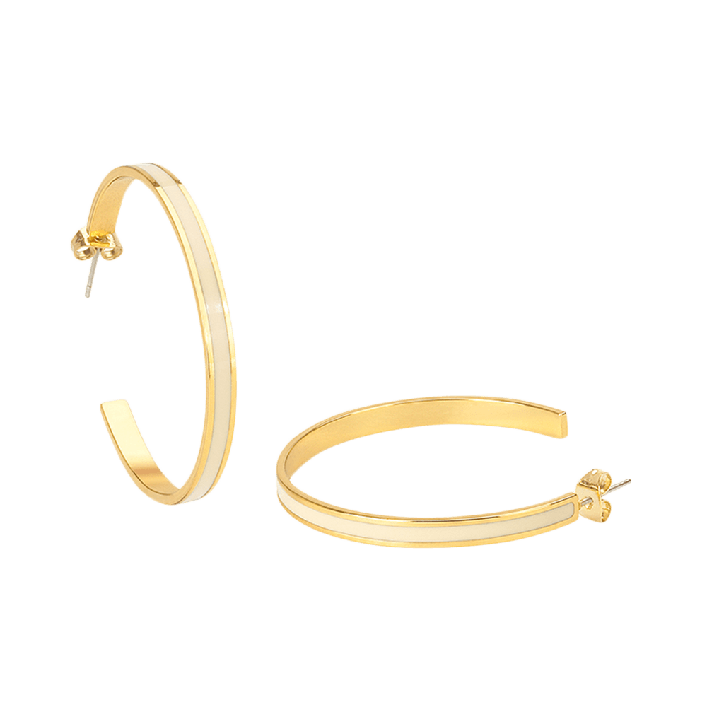 Créoles Bangle - Blanc Sable