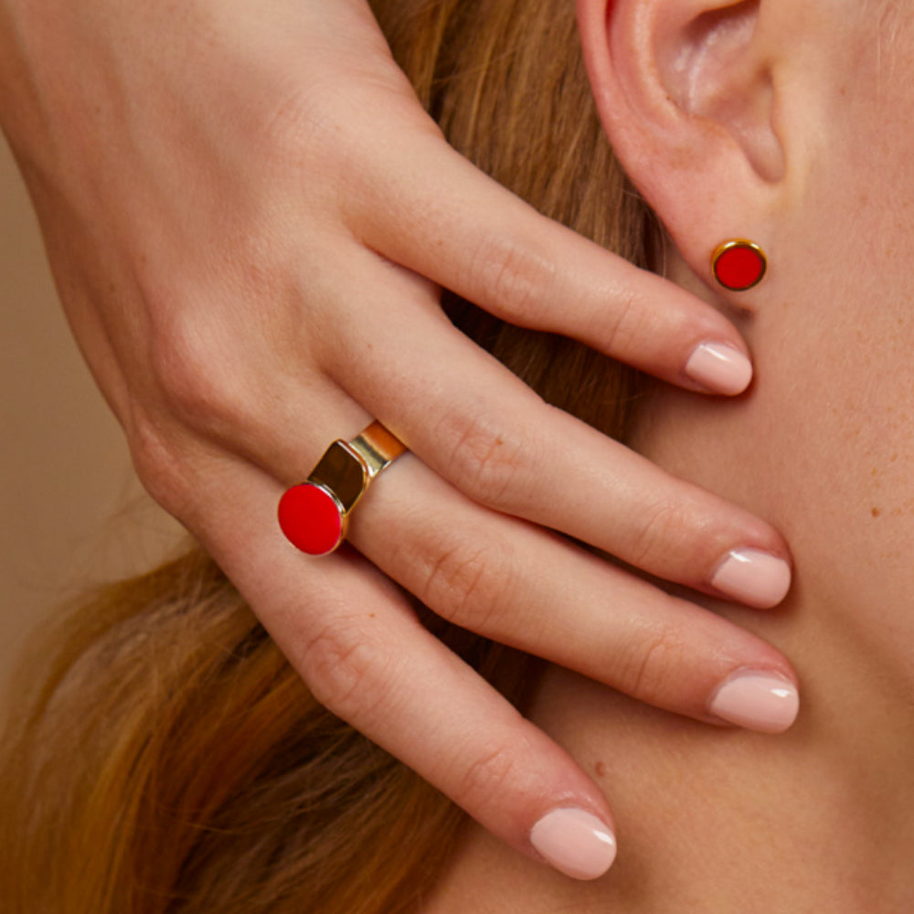 Bague Arty - Rouge Velours