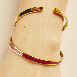 Jonc Resolutions - Rouge Velours Jonc BangleUp