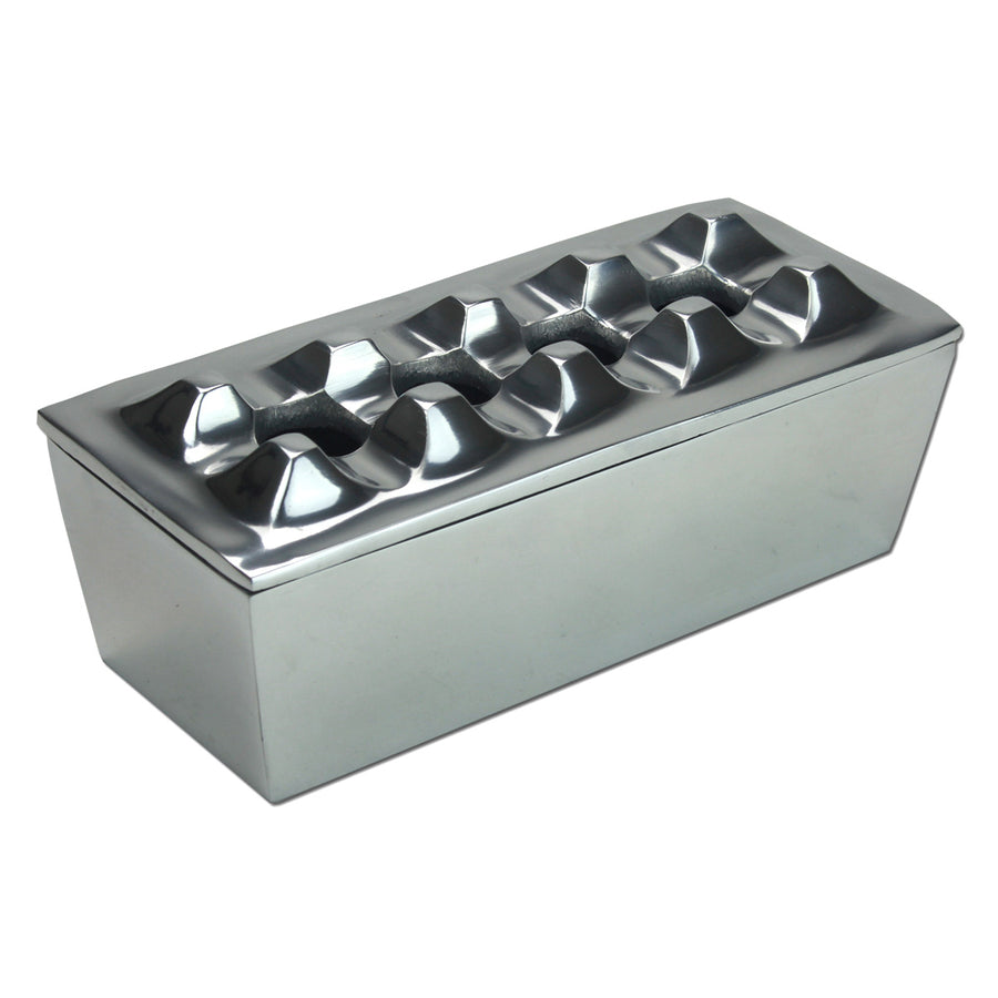 Polished Metal Cigar 4 Stirrup Ashtray