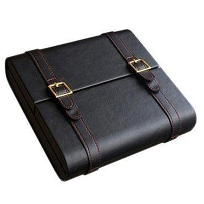 Augustus 20 Count Black Leather Travel Cigar Humidor