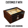 Berkeley II 100 Count Mahogany and Black Lacquer Cigar Humidor