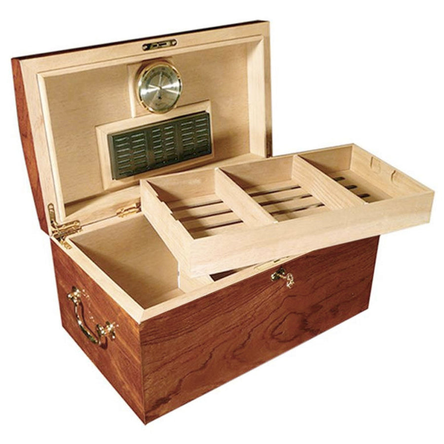 Broadway 150 Count Burl Cigar Humidor with Mappa Inlay
