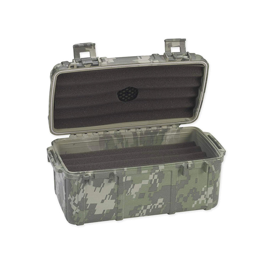 Cigar Caddy 3540 Forest Camouflage 15 Cigar Travel Humidor
