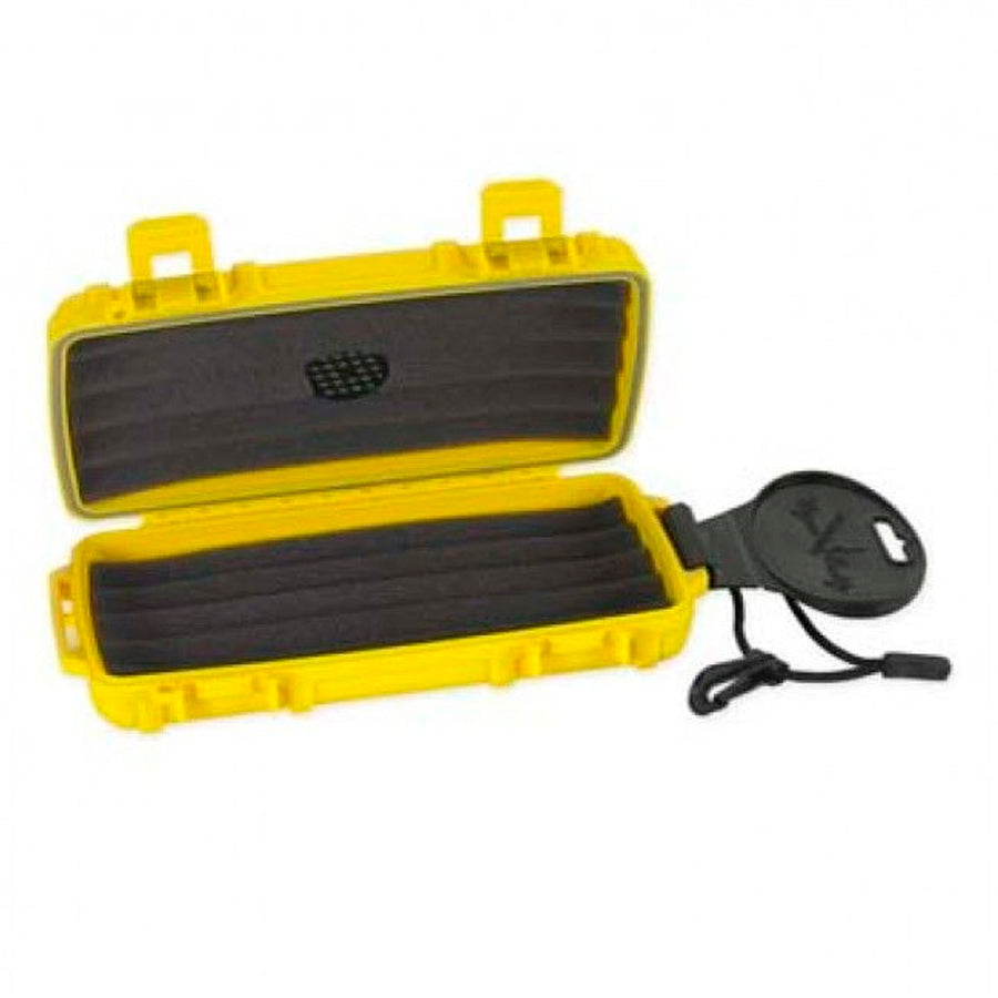 Cigar Caddy 3400 Safety Yellow 5 Cigar Travel Humidor