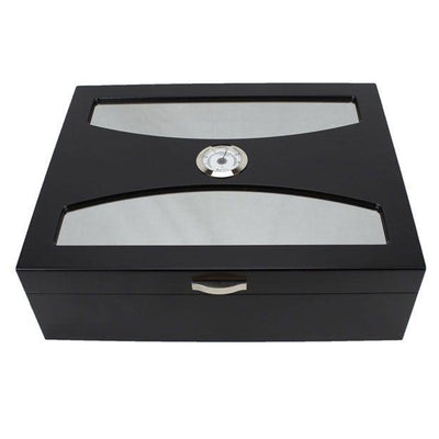 Delano 100 Count Black Cigar Humidor