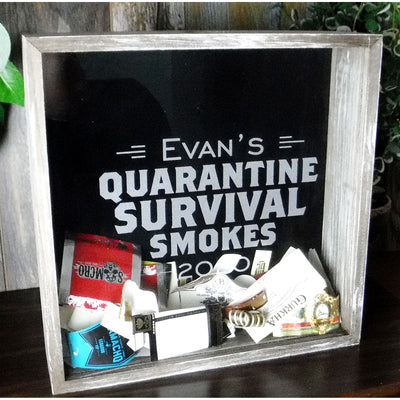 Personalized Acid Wash Cigar Band Shadow Box
