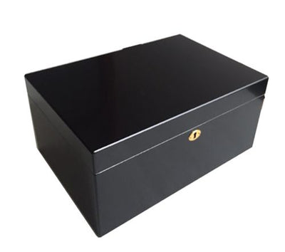 Personalized Milano II Black 100 Cigar Humidor