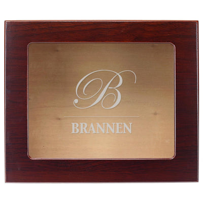 The Traditional Custom Engraved 25 Cigar Glass Top Cigar Humidor