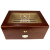 The Winchester Personalized Glass Top 75 Cigar Humidor