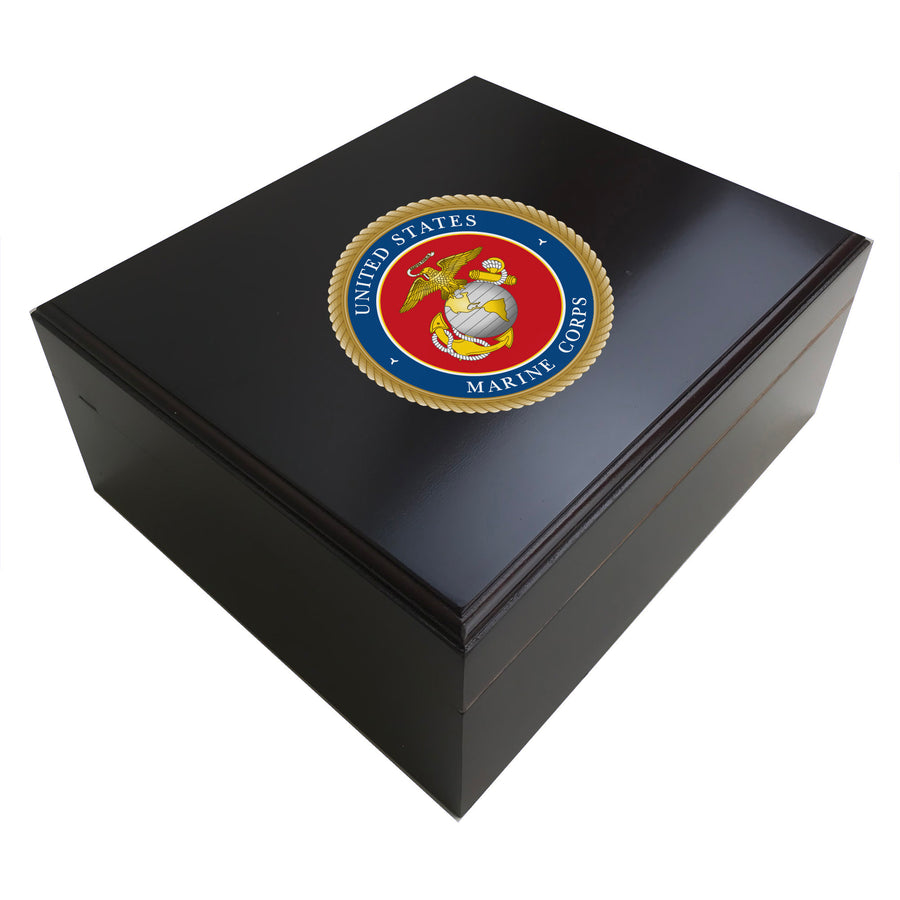 United States Marines 25 Cigar Humidor