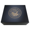 United States Navy Engraved Black 25 Cigar Humidor