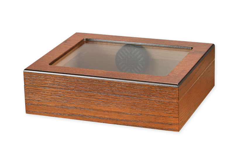 IMPERFECT 20 Cigar Glass Top Travel Humidor IMPERFECT