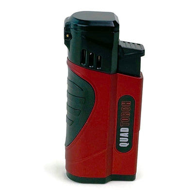The Honey Badger Quad Flame Torch Lighter with Punch Cutter