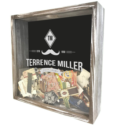 Personalized Acid Wash Cigar Band Shadow Box - Englishman