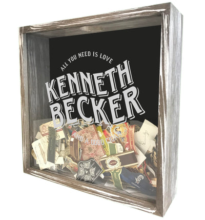 Personalized Acid Wash Cigar Band Shadow Box - Love & a Good Cigar