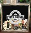 Personalized Acid Wash Cigar Band Shadow Box - Cigar Lounge
