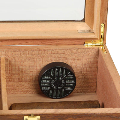 The Elegant Glass Top Cigar Humidor