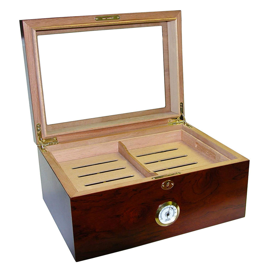 The Glass Top Milano Cigar Humidor