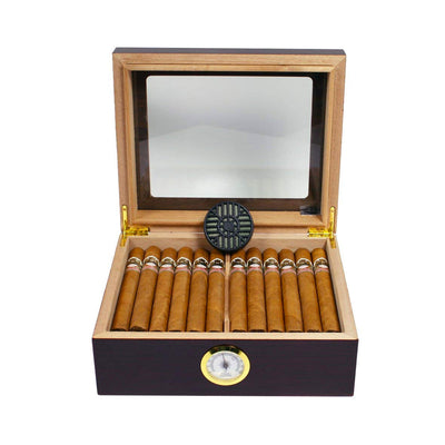 The Protege Glass Top Cigar Humidor