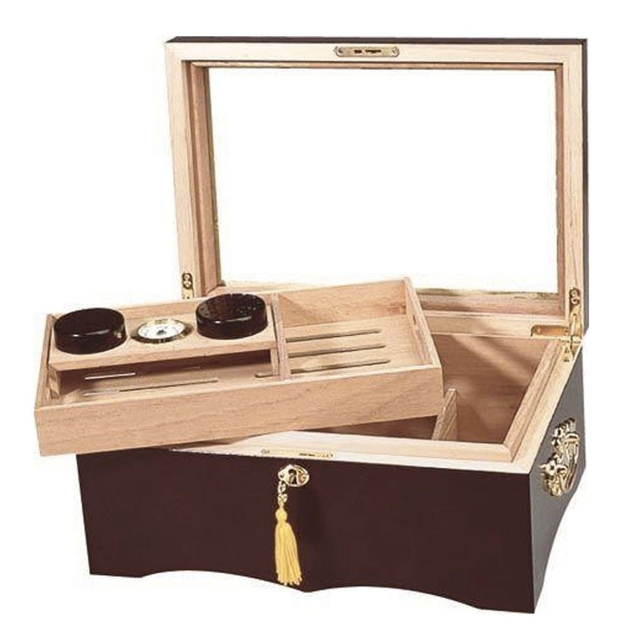 The El Rey Glass Top Cigar Humidor
