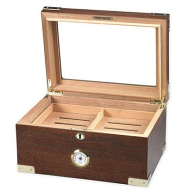 The Prestige Glass Top Cigar Humidor