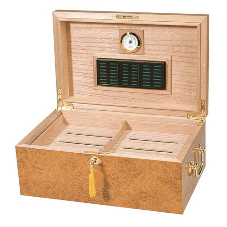The Tuscany Cigar Humidor Light Burl