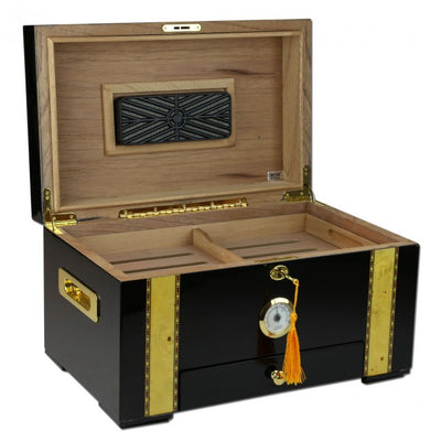 The Windermere 100 Cigar Humidor with Front Mounted Hygrometer