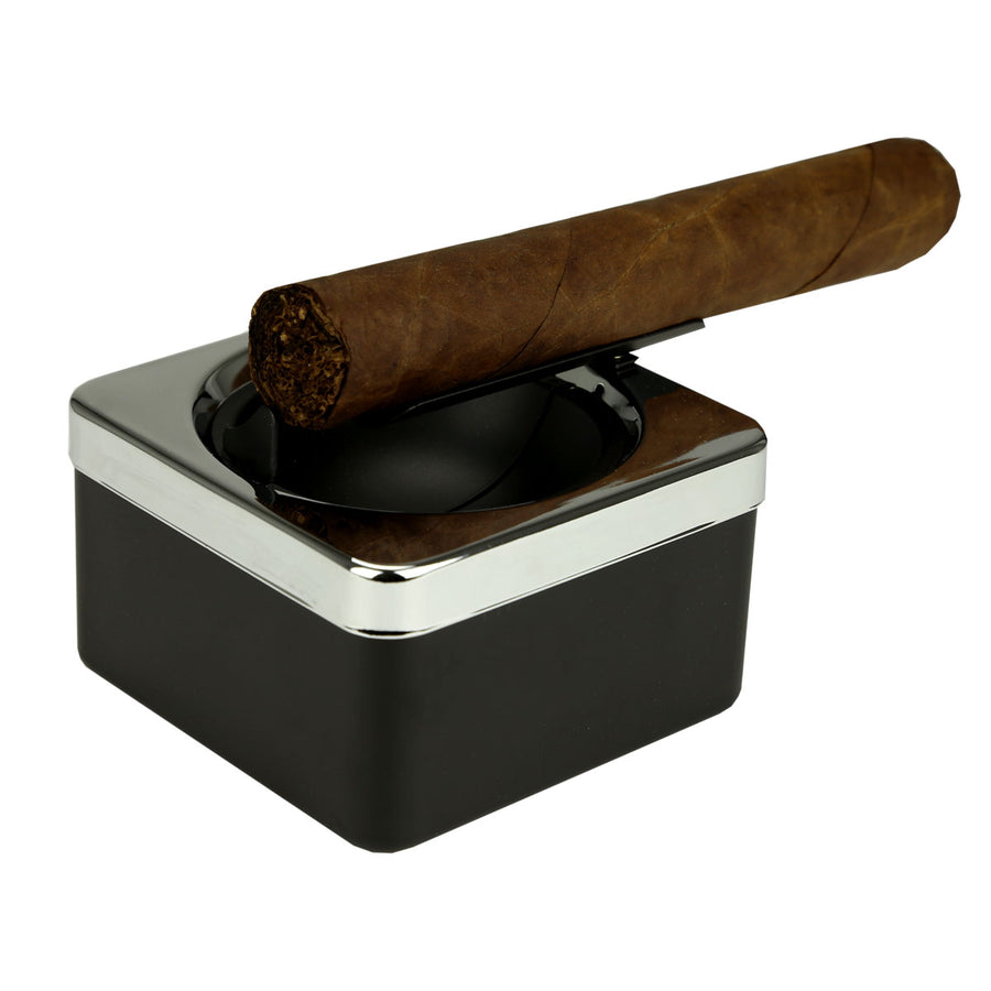 Black Square Single Cigar Ashtray