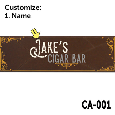 Personalized Cigar Wall Art