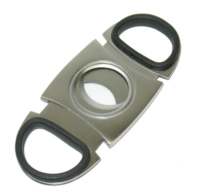 Rubber Grip Stainless Steel Double Blade Guillotine Cutter