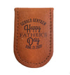 Personalized Father's Day Genuine Leather Money Clip